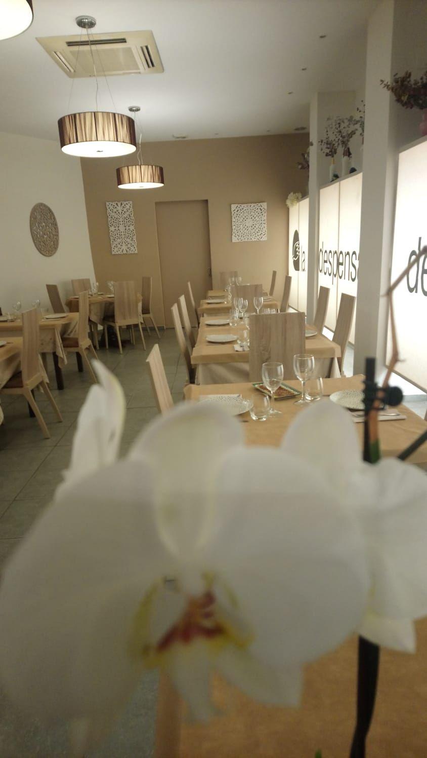 Todo listo en el restaurante La Despensa de la Duquesa