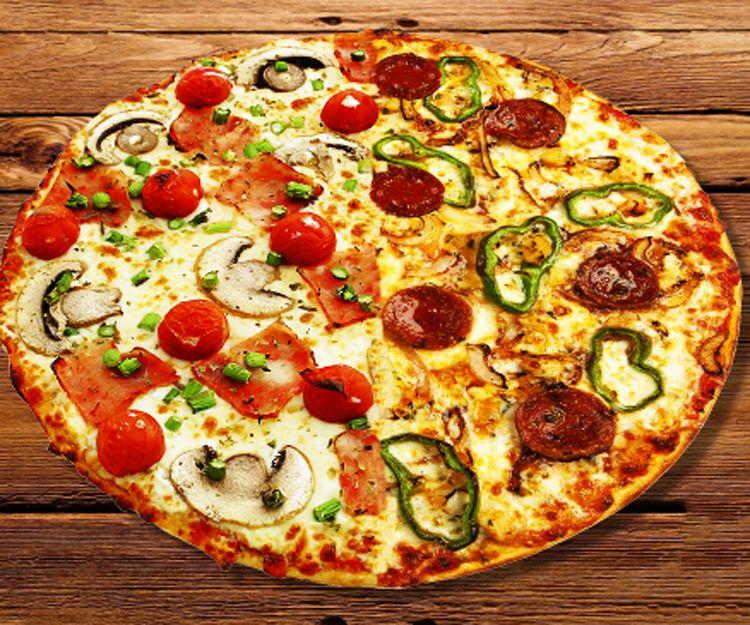 Disfruta de pizzas naturales