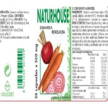 Naturhouse Zanahoria-Remolacha Cápsulas: Productos de Naturhouse Logroño