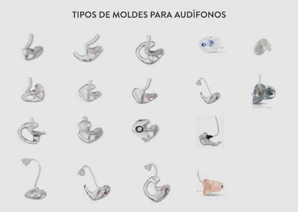Moldes para audífonos