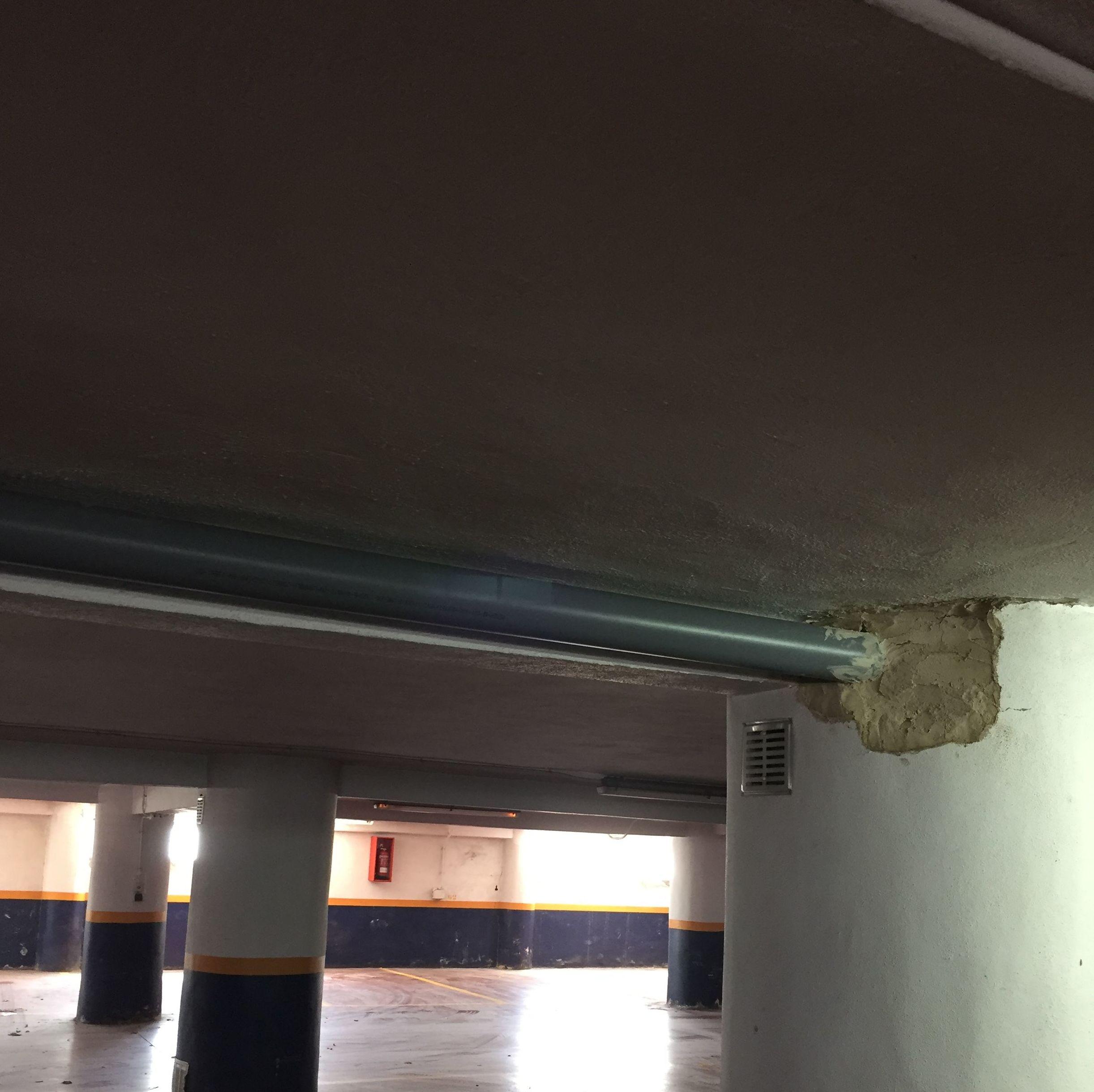 Reforma del techo de un garaje