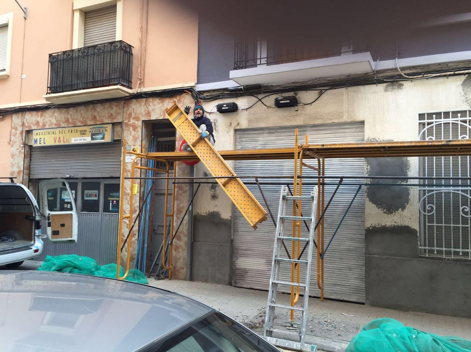 Trabajos de albañilería en fachadas