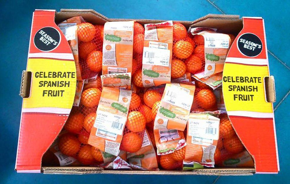 Cajas de cartón para naranjas en Valencia