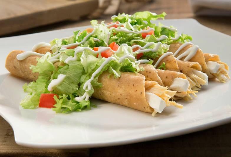 Tacos Nicas de pollo