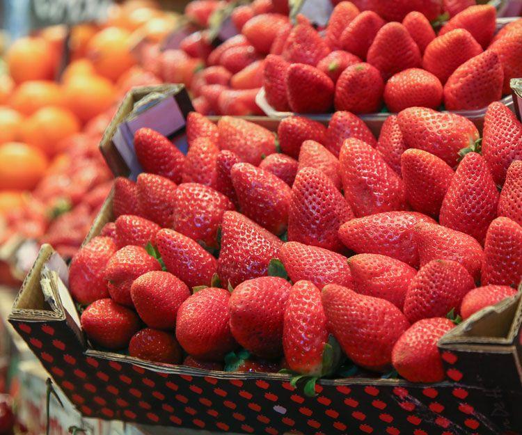 Frutos rojos en Huelva