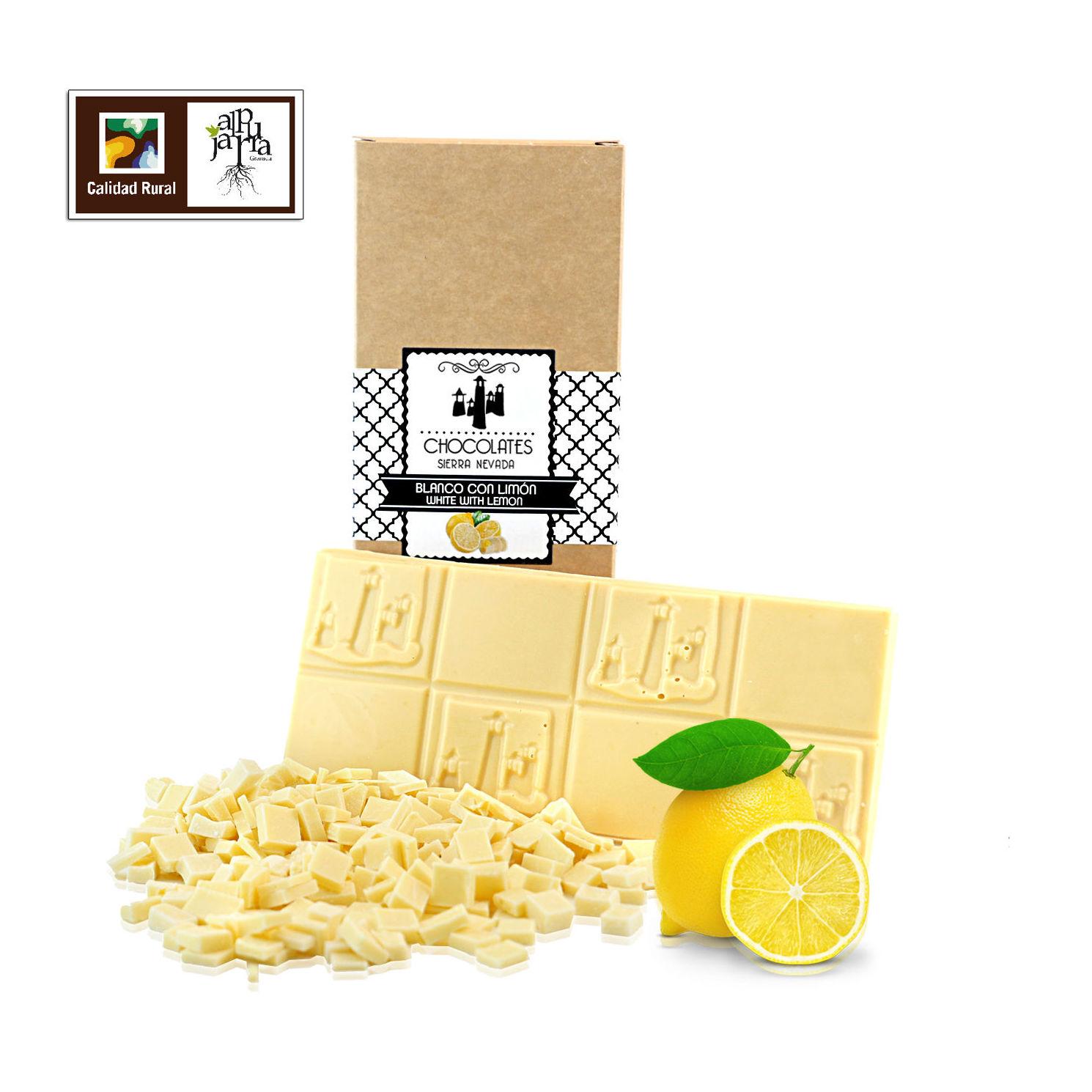Tableta artesana de chocolate blanco con limón: Nuestros productos de Chocolates Sierra Nevada