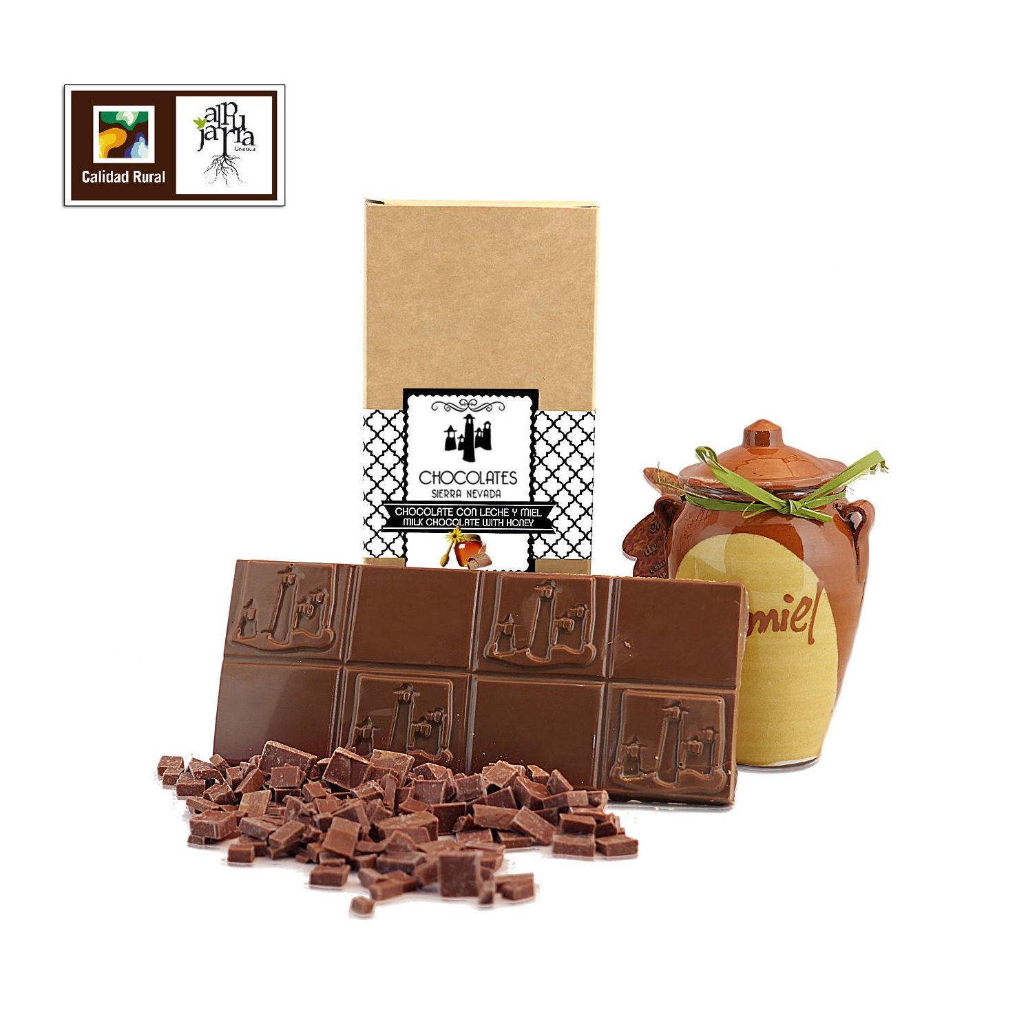 chocolate artesano con leche y miel