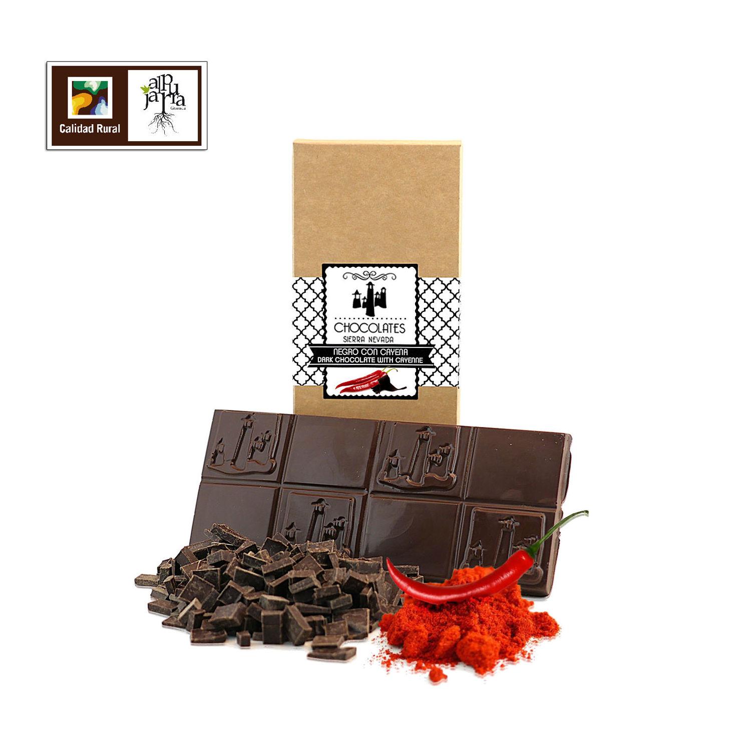 chocolate negro con picante