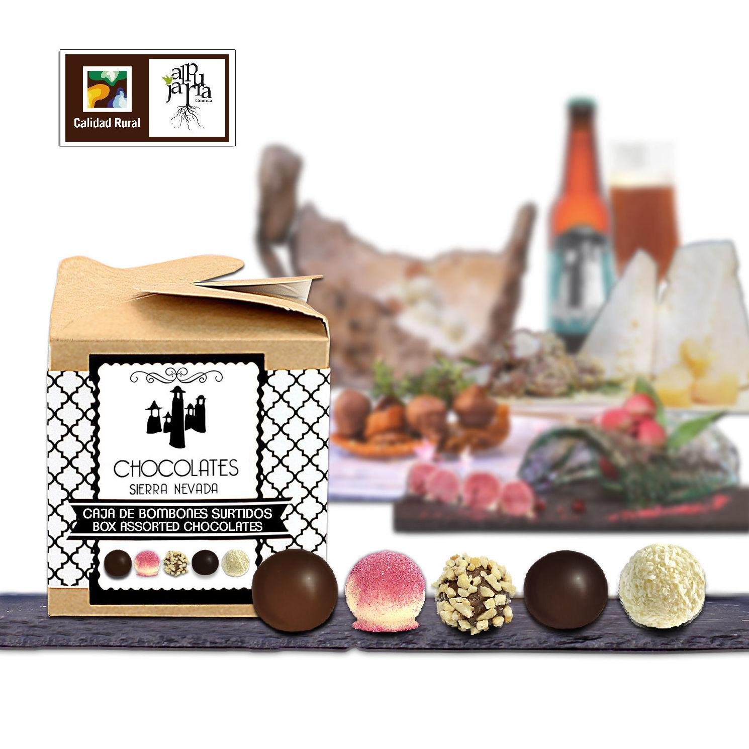 Caja de bombones surtidos: Nuestros productos de Chocolates Sierra Nevada