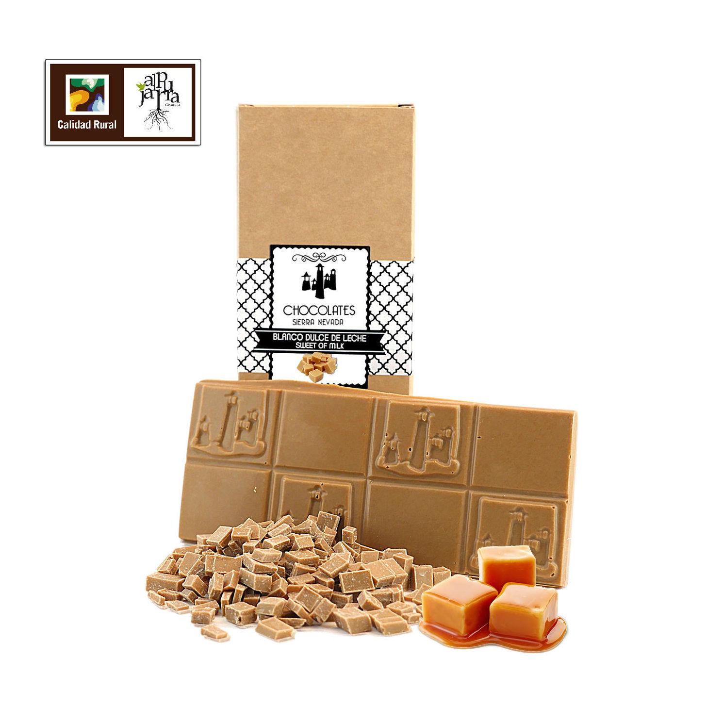 Tableta artesana de chocolate blanco con dulce de leche: Nuestros productos de Chocolates Sierra Nevada