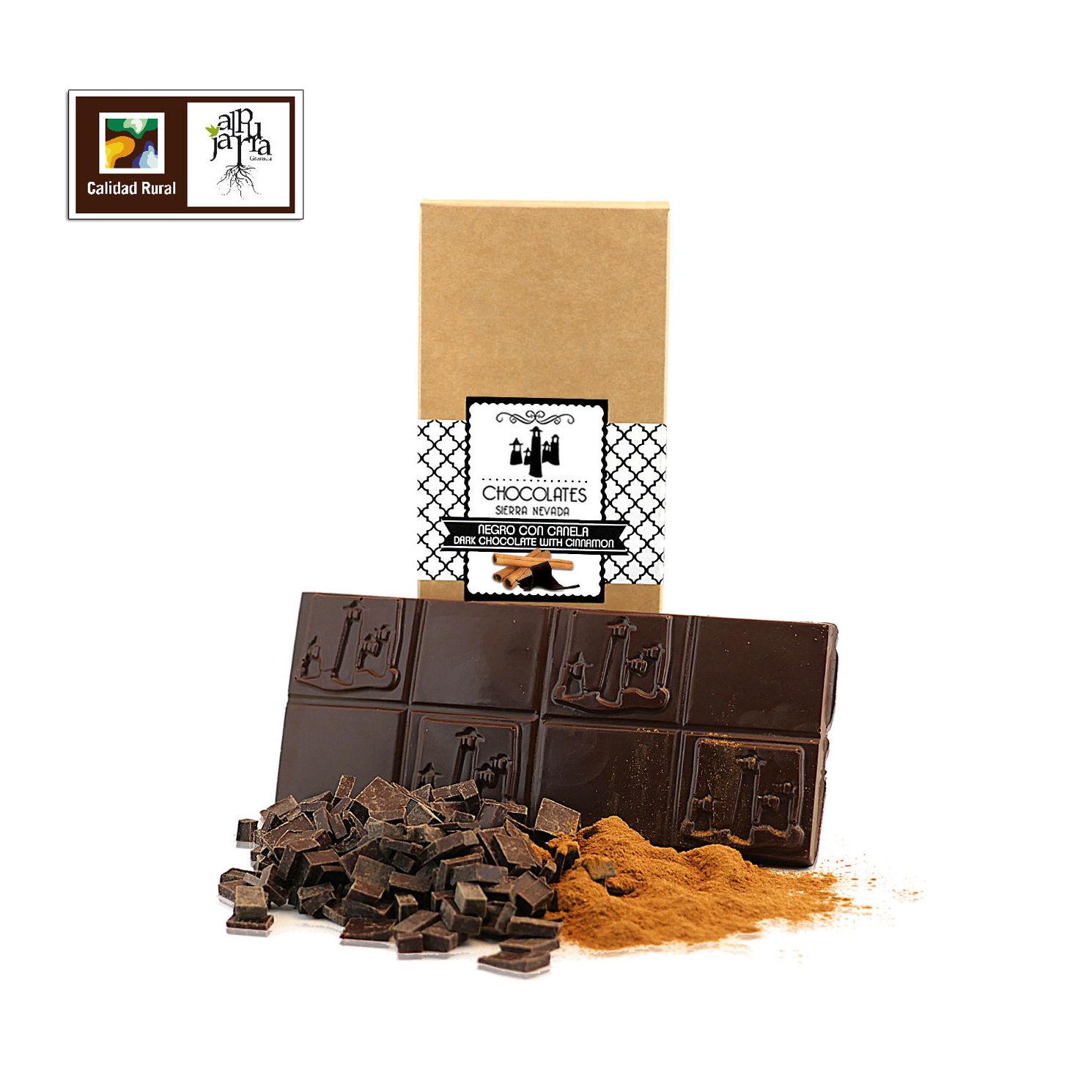 chocolate negro con crema de canela