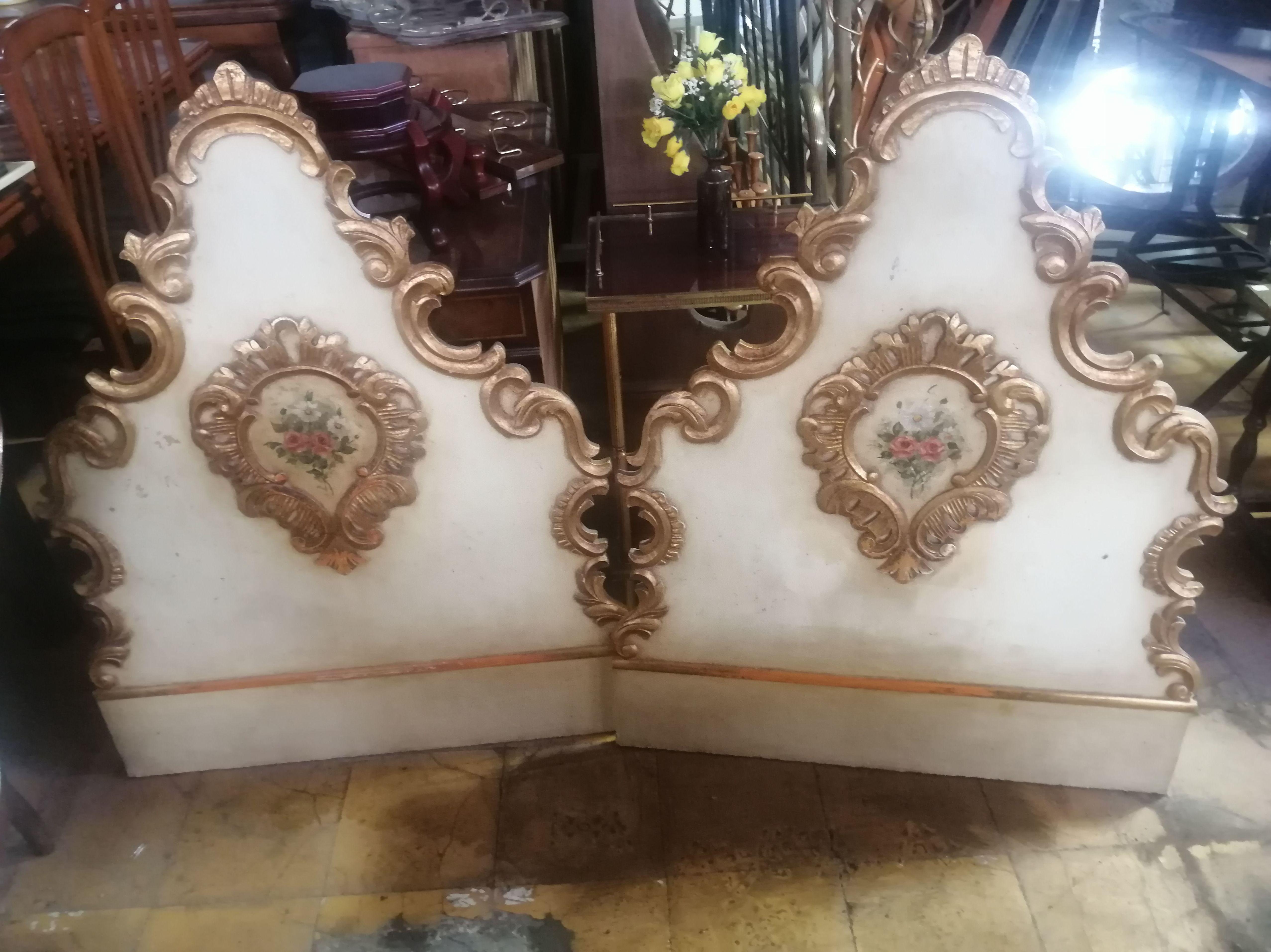 Cabezales cama individual antiguos