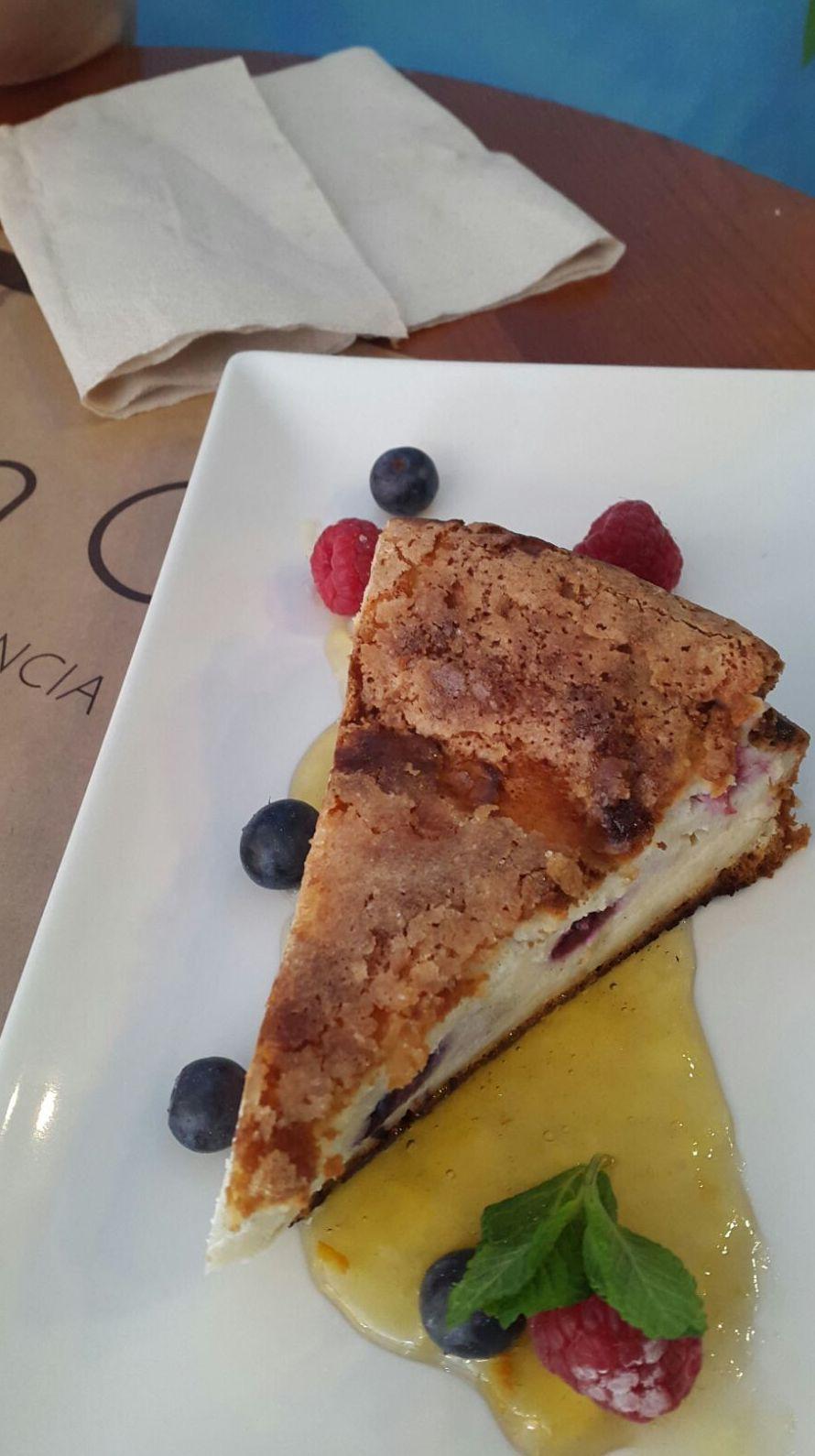 Tarta casera en Restaurante Bon Gust