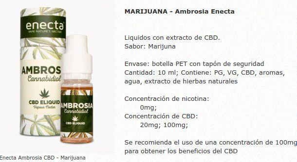 Líquidos Ambrosia (by Enecta) con CBD: Productos de LIBRE VAPEO