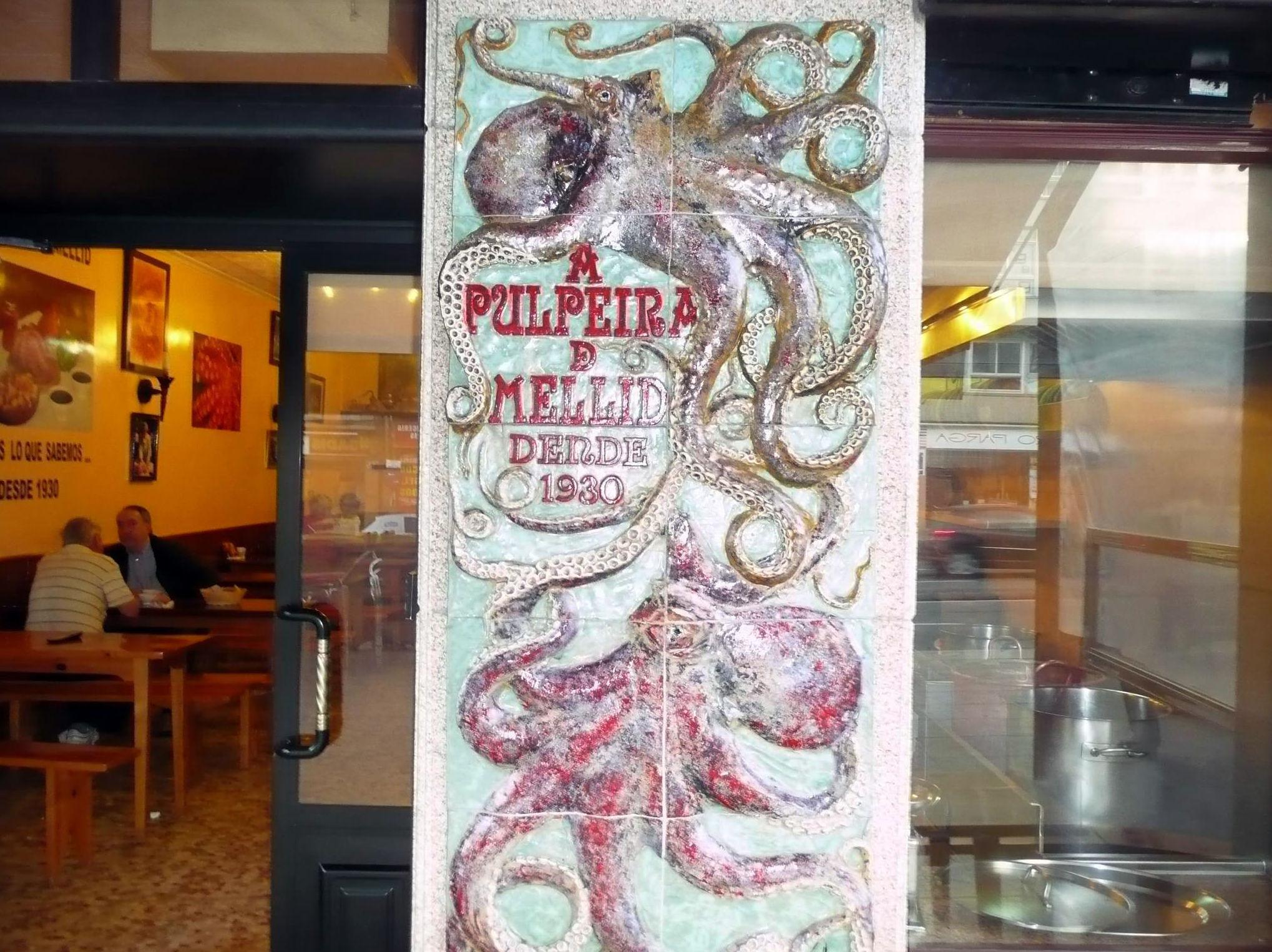 Restaurante recomendado para comer pulpo en A Coruña