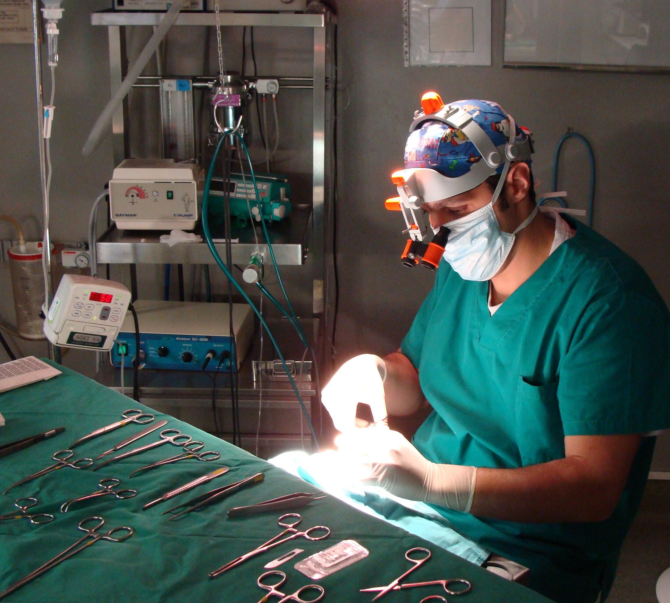 Cirugía oftalmológica y de tejidos blandos.