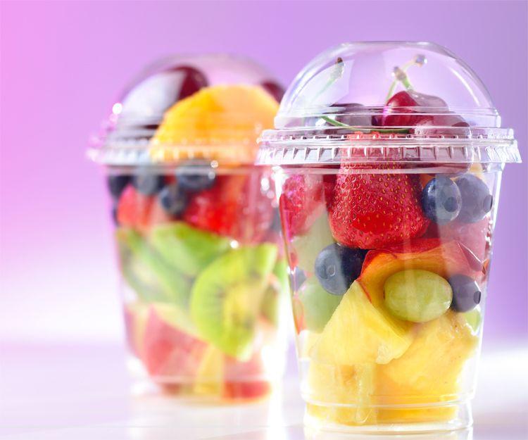 Vasos de plástico para alimentos