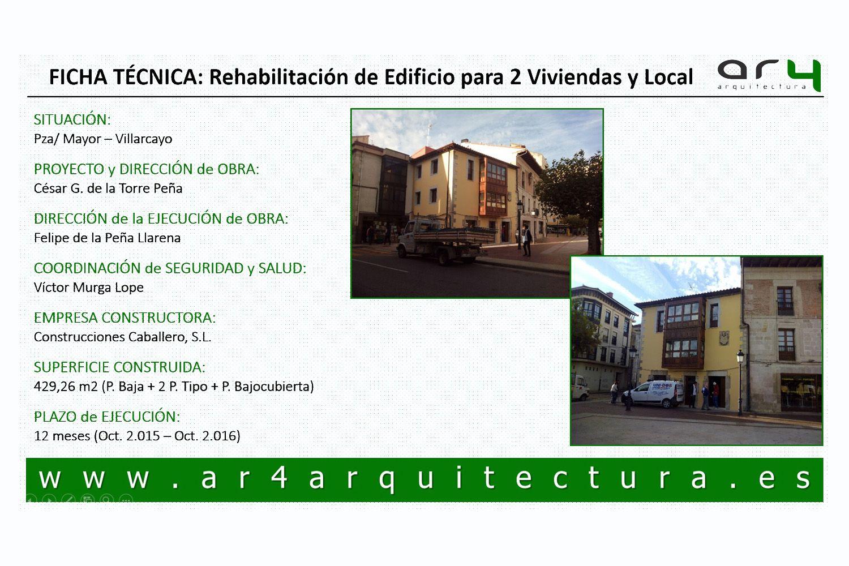 Rehabilitación de edificio para dos viviendas y local