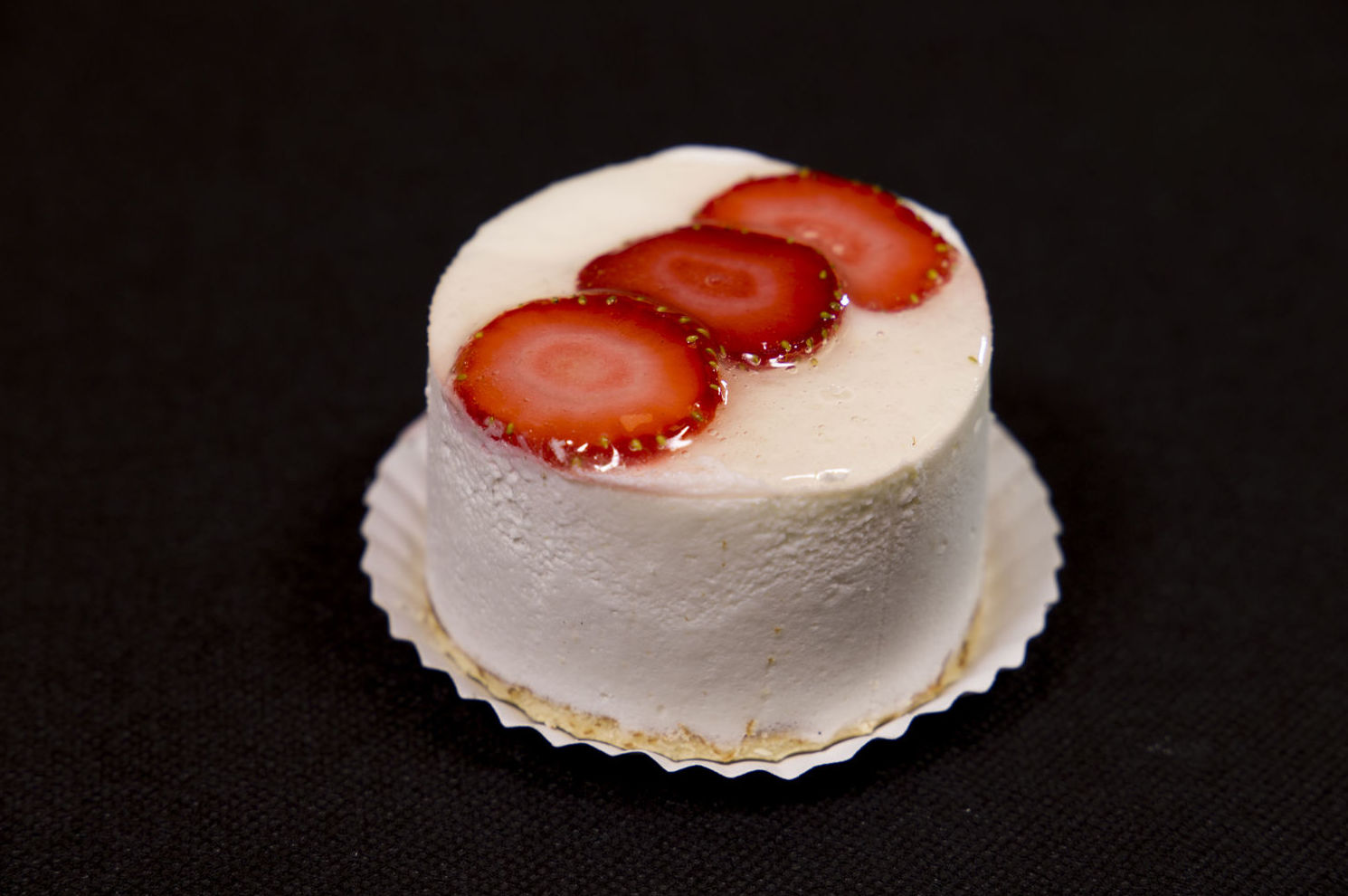 Semifrío de yogur con fresas