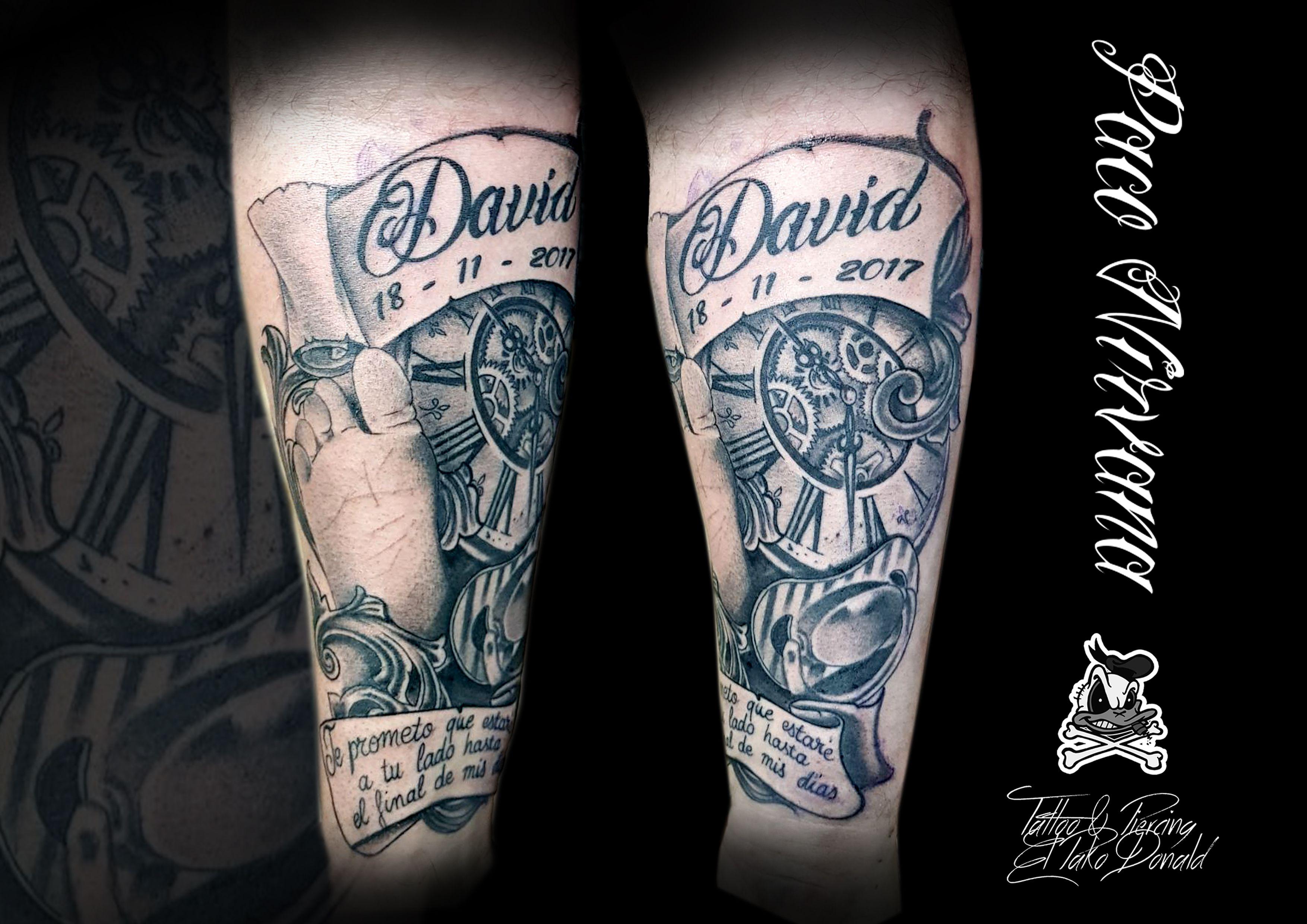 Blanco Y Negro Tatuajes De Tattoo Piercing El Pako Donald