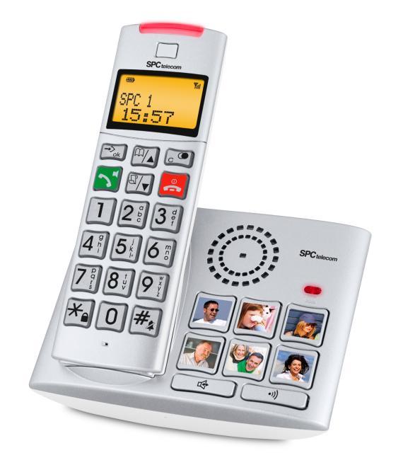 TELEFONO INALAMBRICO TECLAS GRANDES Y FOTOS