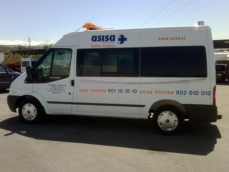 Servicio de ambulancias a compañías