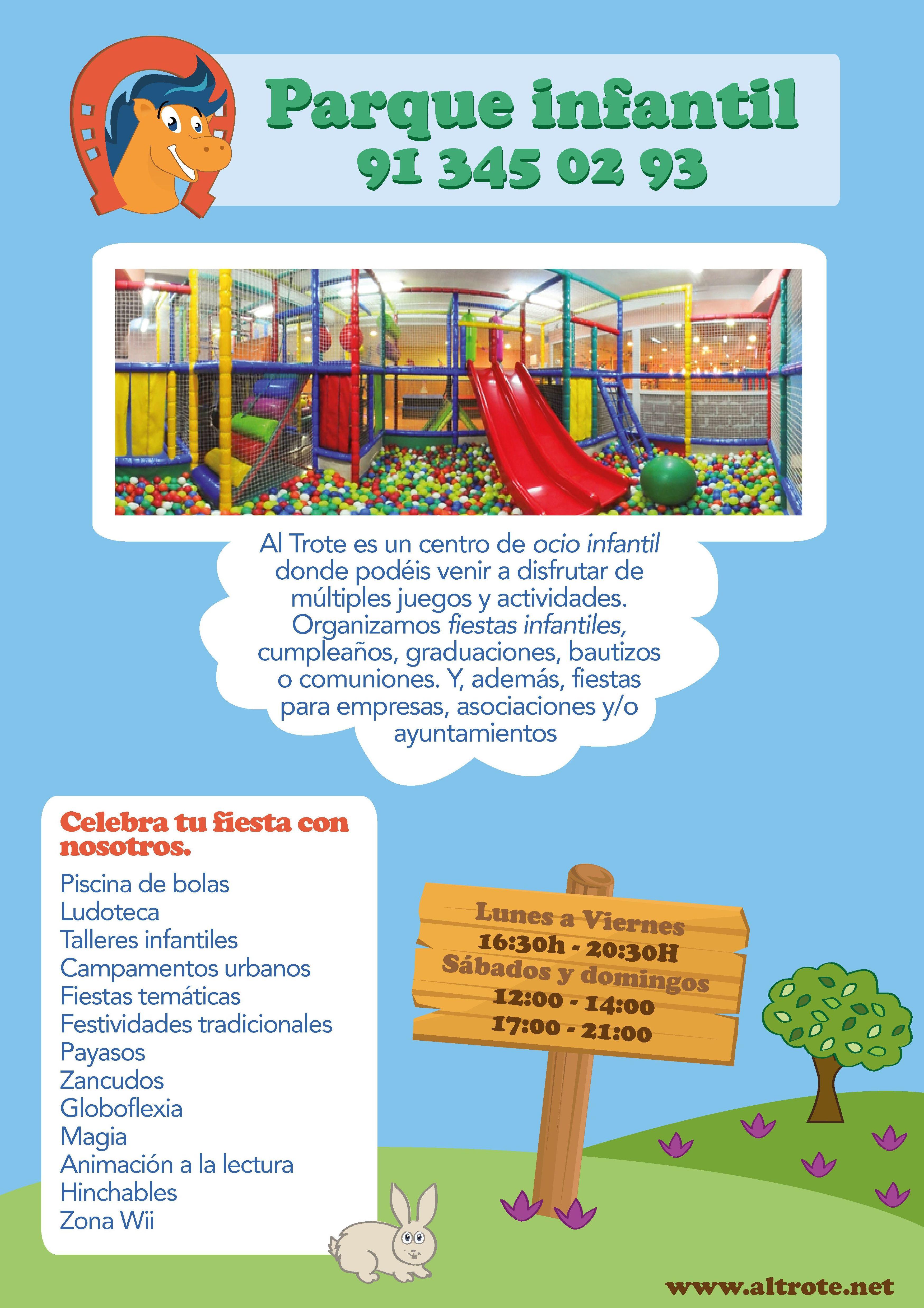 FIESTA AL TROTE: NUESTROS SERVICIOS de Al Trote Zona Infantil