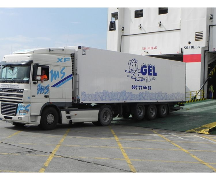 Camión frigorífico para transporte