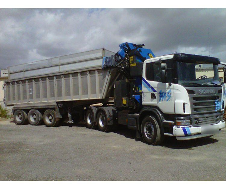 Transporte de mercancías para la construcción