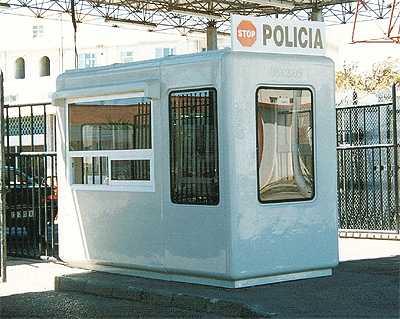 Aduana control documentación, con aire acondicionado, puerta corredera y ventanas especiales