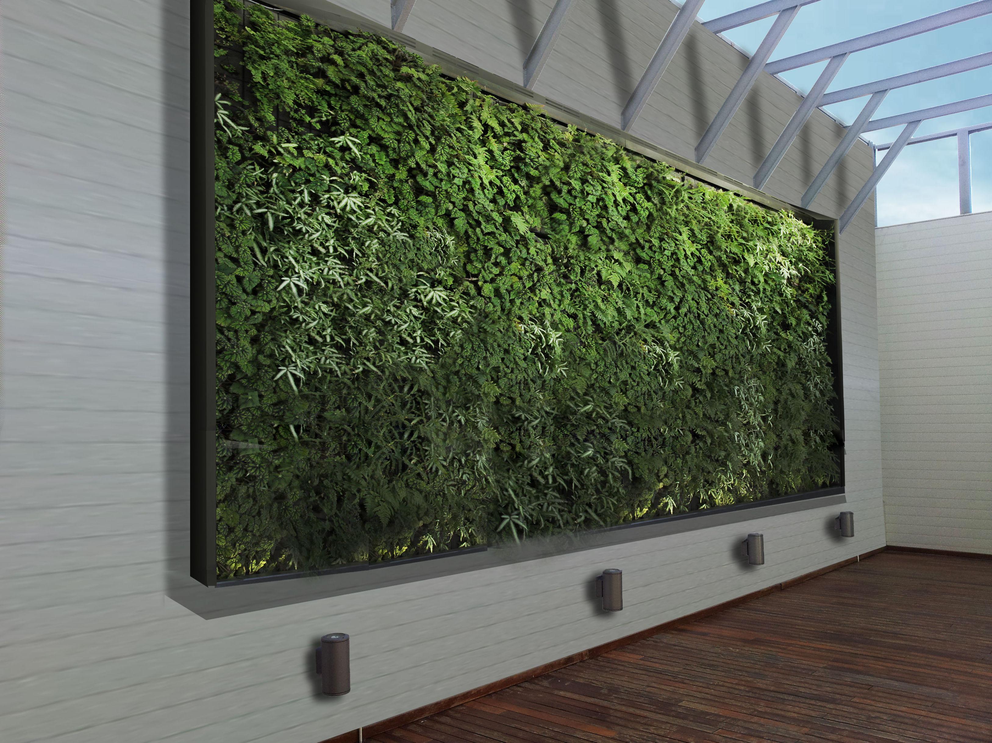 Jardín vertical con aluminio