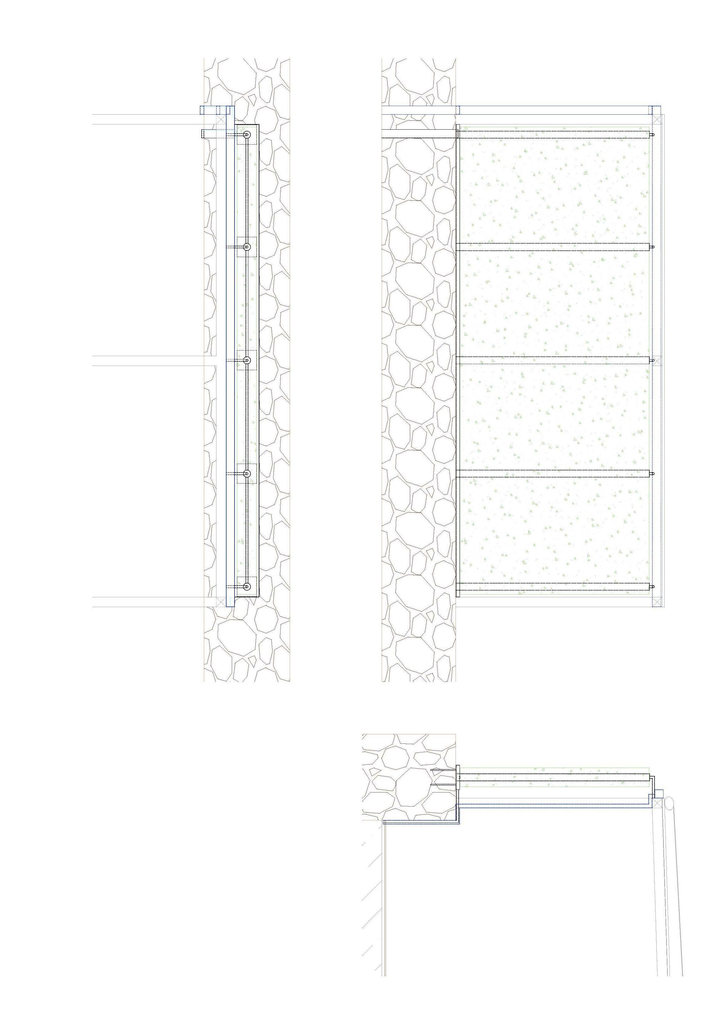 Plano de estructura de jardín vertical