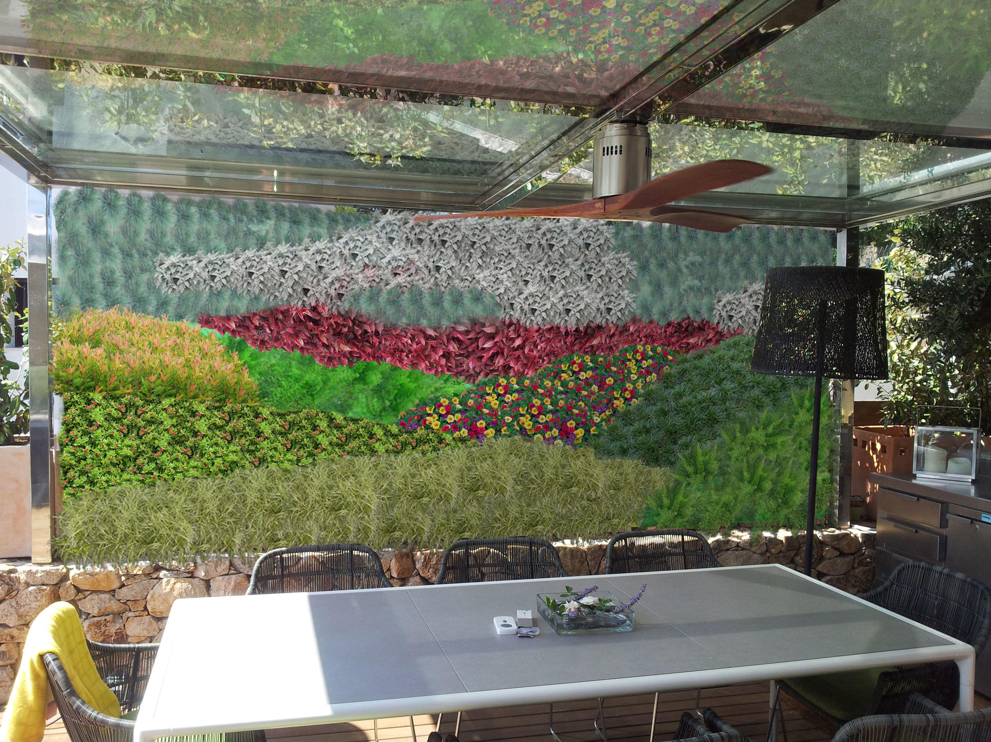 Muro vegetal en terraza