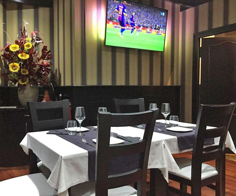 Un rincón del restaurante en Valencia