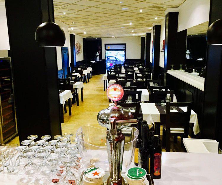 Interior del restaurante en Valencia