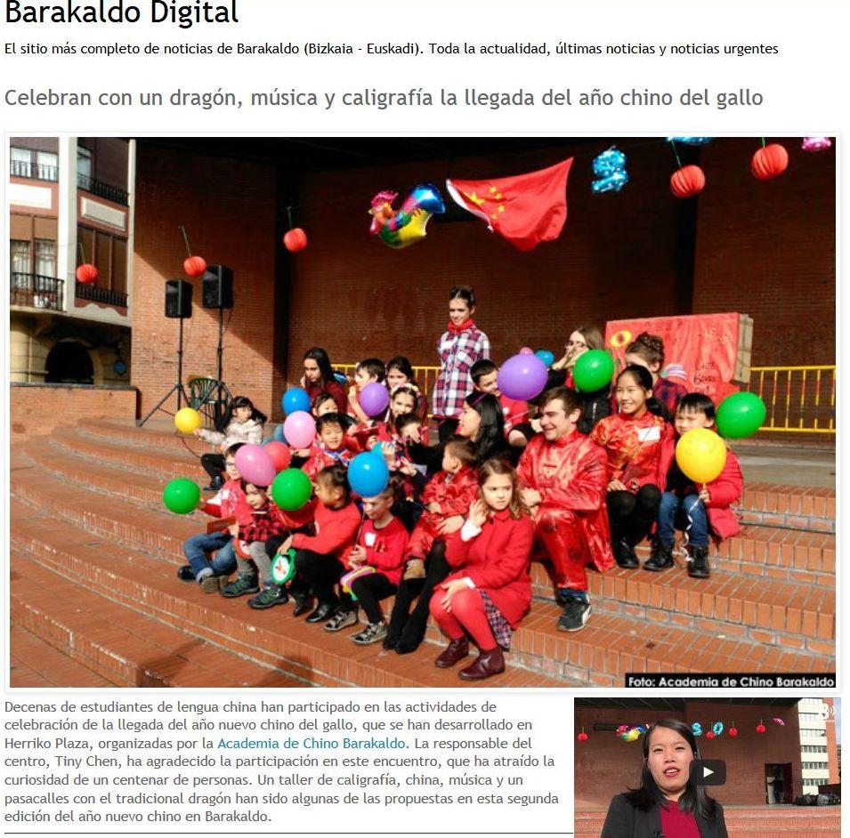 Academia de chino en Barakaldo