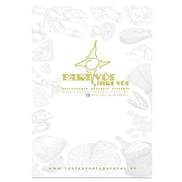 Carta: Especialidades de Restaurante Para Vós