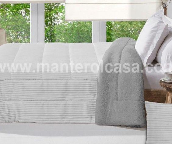Ropa de cama tono gris