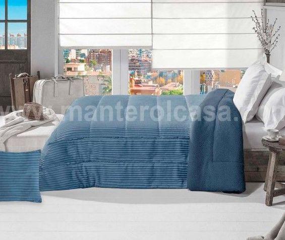 decoración textil tonos azules
