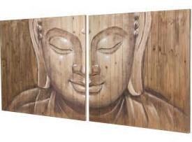 Buda en láminas de madera