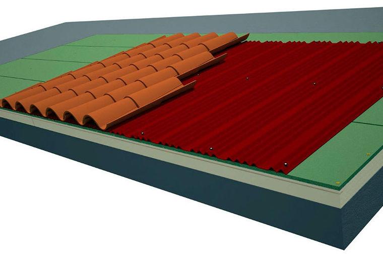 Sistema SATE de cubierta Onduline para superficies continuas