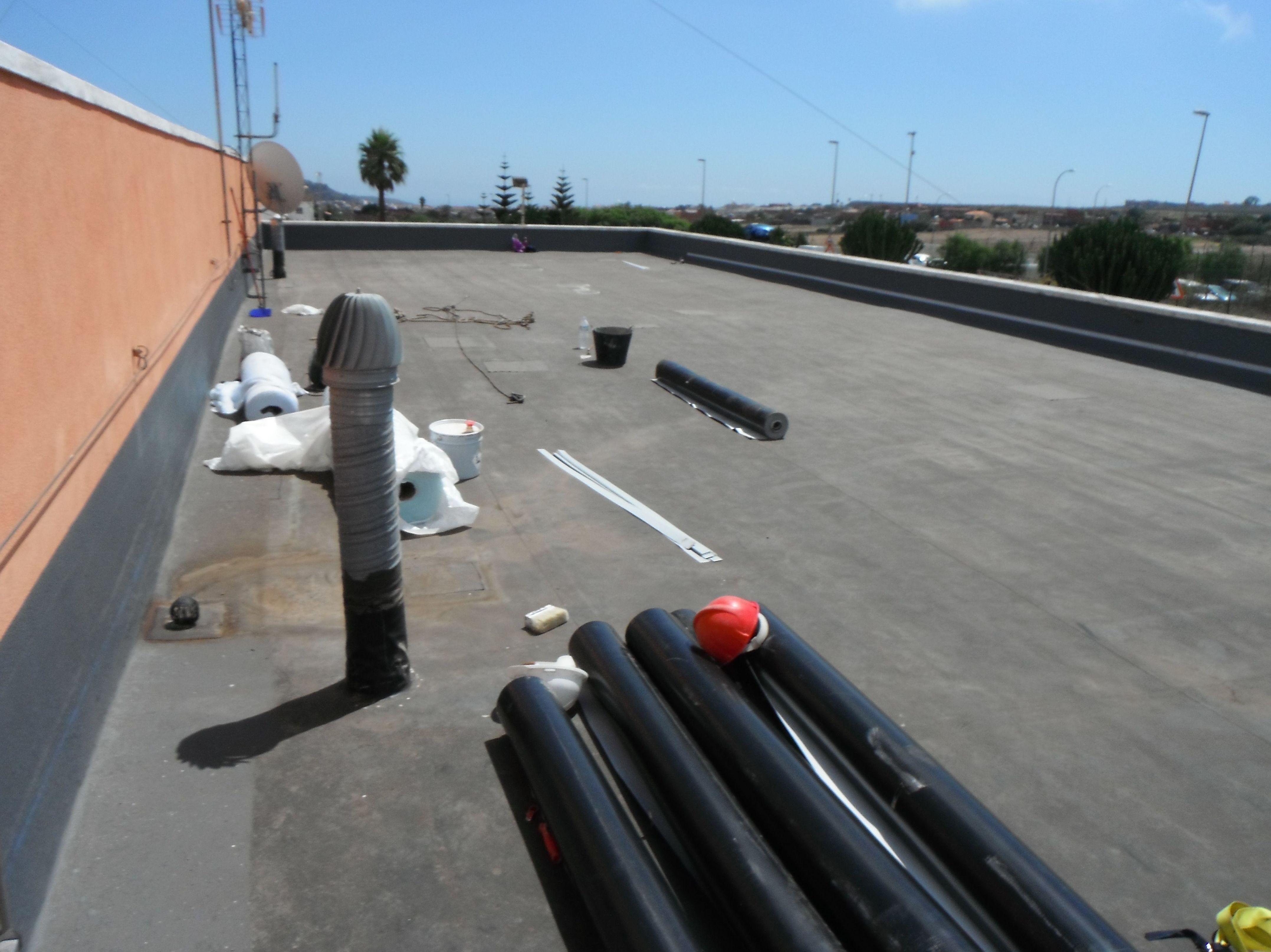 Reimpermeabilizacion con Pvc interprete central eléctrica aeropuerto los Rodeos