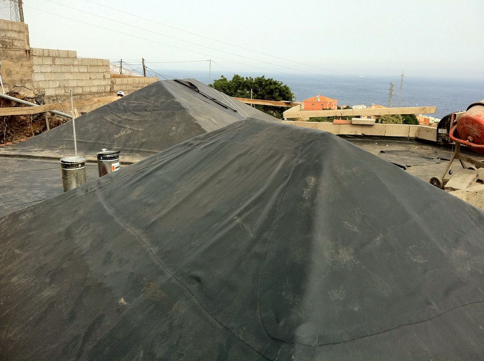 Colocación de productos impermeabilizantes