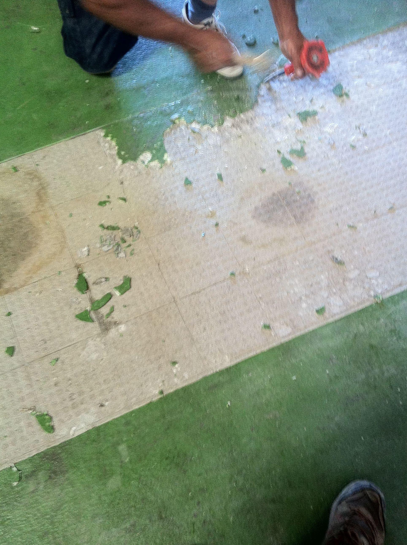 Reparación de pavimento epoxi