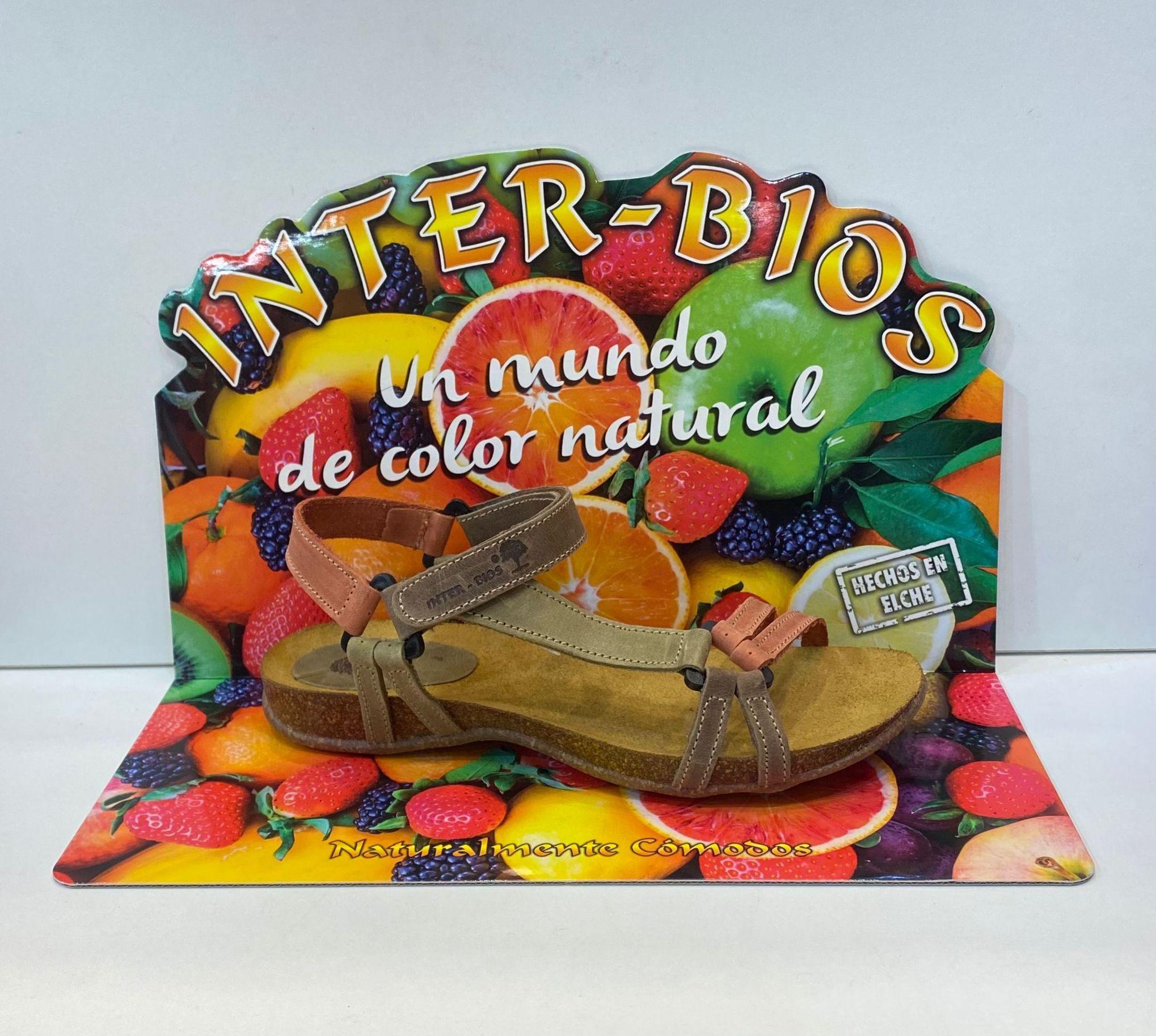 Sandàlia de dona, de la marca Inter-Bios, adaptable a totes les amplades, plantilla anatòmica de suro premsat i sola de cepe entilliscant 52€ www.calzadosllinas.es