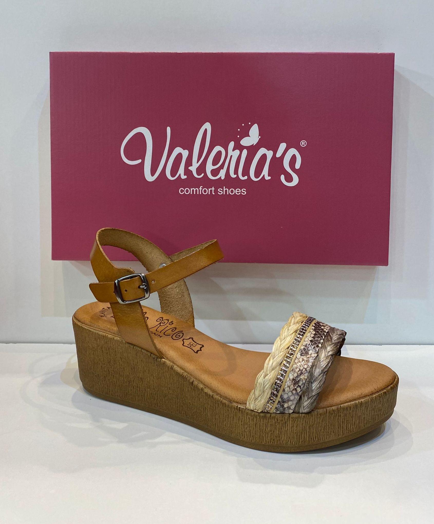 Sandàlia de dona, de la marca Valeria's, plantilla de gel de viscoelàstica, sola de politilè 36€ www.calzadosllinas.es