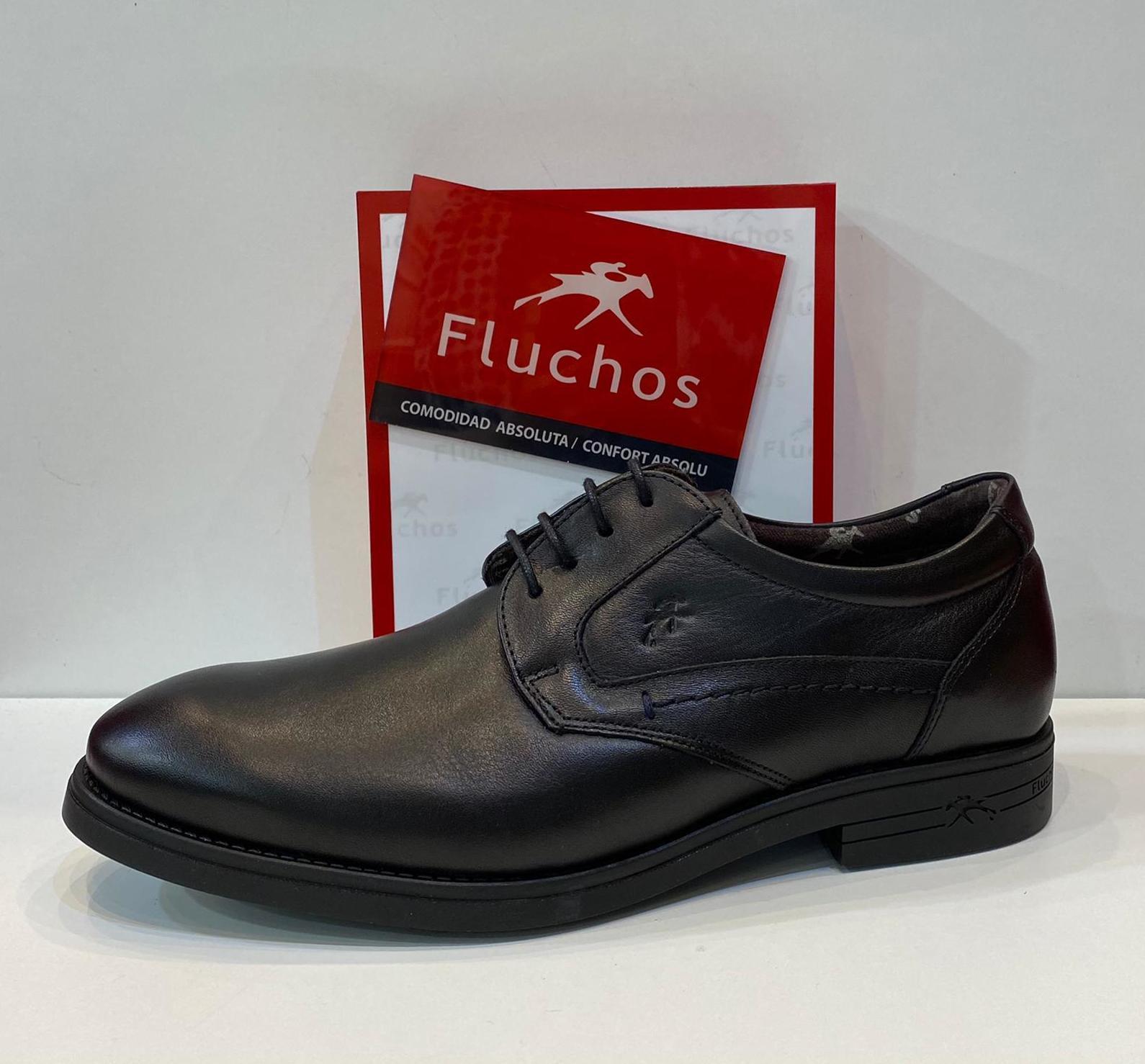Blucher d'home, de la marca Fluchos, ample especial, plantilla de viscoelàstica, pell molt amorosa, sola de làtex amb càmeras d'aire 95€