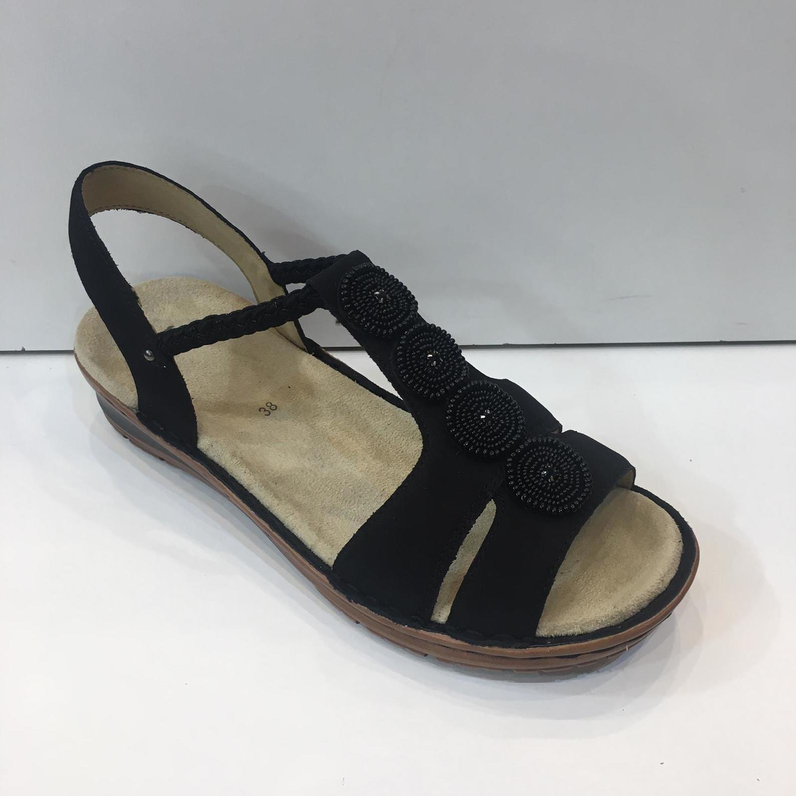 Sandàlia de dona de la marca Ara, ample especial, no s'ha de cordar, plantilla anatòmica folrada amb pell girada 79€