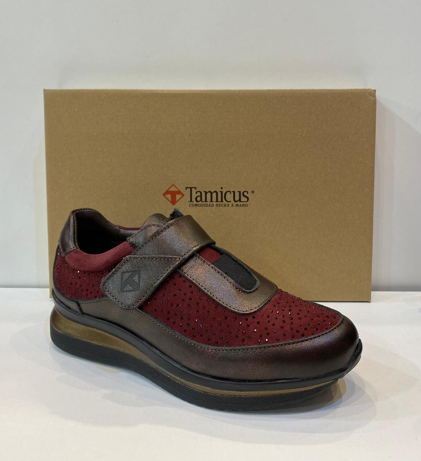 Blucher de dona, de la marca Tamicus, ample especial, adaptable a plantilles ortopèdiques, sola de politilè 71,50€