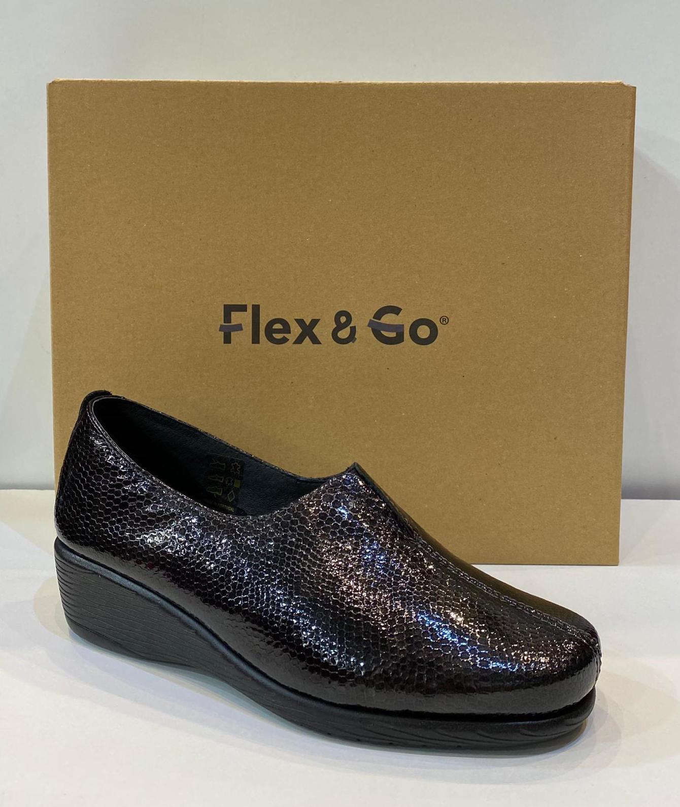 Mocasí de dona, de la marca Flex&Go, ample especial, plantilla de làtex i sola de làtex 65€